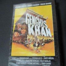 Cine: PELICULA VHS VIDEO GENGHIS KHAN OMAR SHARIF, STEPHEN BOYD, JAMES MASON, ELI WALLACH. Lote 63033552