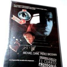 Cine: VHS - EL CUARTO PROTOCOLO - PIERCE BROSNAN, MICHAEL CAINE - INTRIGA, ESPIONAJE - 1º EDICION. Lote 63305848