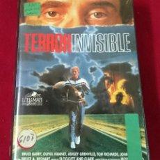 Cine: TERROR INVISIBLE VHS. Lote 63442368