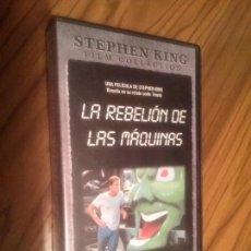 Cine: LA REBELIÓN DE LAS MAQUINAS. STEPHEN KING. VHS. SIN PROBAR. BUEN ESTADO. RARA. Lote 64062099