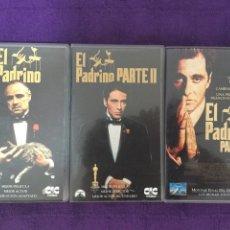 Cine: EL PADRINO TRILOGÍA VHS 3 CINTAS PELÍCULA. Lote 95446019