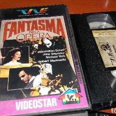 Cine: EL FANTASMA DE LA OPERA- VHS- MAXIMILIAN SCHELL / ROBERT MARKOWITZ - AUTENTICA RAREZA. Lote 65704242