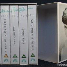 Cine: AUDREY HEPBURN 75 BIRTHDAY ANNIVERSARY SPECIAL COLLECTION BOX SET – CAJA 5 PELICULAS VHS PRECINTADAS. Lote 66859190