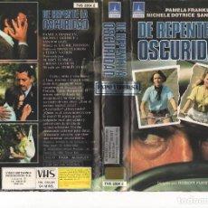 Cine: VHS- DE REPENTE EN LA OSCURIDAD - ROBERT FUEST - SLASHER. Lote 66889542