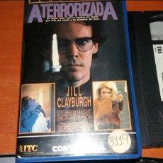 Cine: ATERRORIZADA- VHS- JILL CLAYBURGH- SLASHER. Lote 69426562