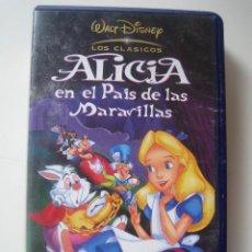 Cine: VHS DISNEY - ALICIA EN EL PAÍS DE LAS MARAVILLAS. Lote 70001749
