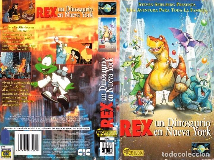 Vhs Rex Un Dinosaurio En Nueva York Dibujos Vendido En Venta