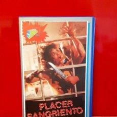 Cine: PLACER SANGRIENTO - SLASHER DE SERIE B DE LOS 70´S. UNICA EN TC !. Lote 70217165