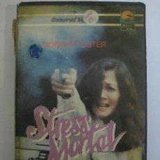 Cine: VHS STRESS MORTAL (WALKING THE EDGE) (AL FILO DE LA NAVAJA) 1985 - ROBERT FORSTER. Lote 70417097