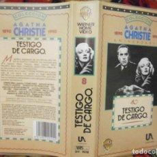 Cine: ((PELICULA-VHS))-TESTIGO DE CARGO. Lote 70534645