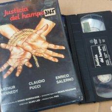 Cine: JUSTICIA DEL HAMPA / VIOLACION EN EL ULTIMO TREN DE LA NOCHE (1975) VHS- ALDO LADO - POLIZIESCO. Lote 71036597