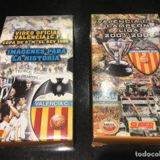 Cine: PACK 2 VHS VALENCIA CF CAMPEÓN DE COPA DEL REY 1999 Y LIGA 2001/2002. Lote 71679643