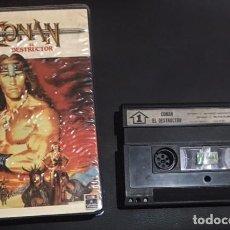 Cine: PELICULA CONAN EL DESTRUCTOR VIDEO 2000 ORIGINAL DE 1985 TIPO VHS / BETA. Lote 75428279