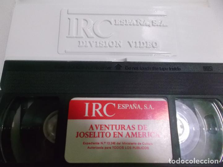 Cine: JOSELITO EN AMERICA VHS ESTUCHE XL GRANDE IRC ESPAÑA - Foto 4 - 77128805