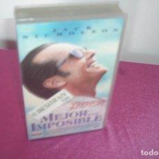 Cine: MEJOR IMPOSIBLE VHS. Lote 77733433