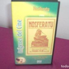 Cine: VHS NOSFERATU COLECCION ORÍGENES DEL CINE. Lote 77894649