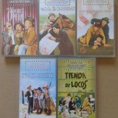Cine: LOTE LOS HERMANOS MARX. INCLUYE CINCO CINTAS VHS. Lote 78877479