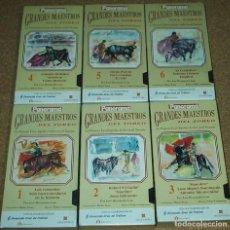 Cine: GRANDES MAESTROS DEL TOREO, OBRA COMPLETA DE 6 VHS PRECINTADOS- VER DESCRIPCIÓN. Lote 80453329