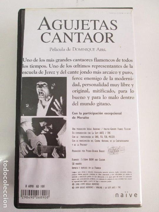Cine: AGUJETAS CANTAOR. PELICULA DE DOMINIQUE ABEL. CINTA VHS. VER FOTOGRAFIAS ADJUNTAS - Foto 9 - 80516961