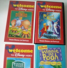 Cine: WELCOME TO DISNEY VIDEO - 3 PELÍCULAS. Lote 81102360