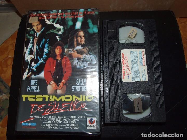 TESTIMONIO DE SILENCIO - JOHN PATTERSON - MIKE FARREL , SALLY STRUTHERS - RECORD VISION 1990 (Cine - Películas - VHS)