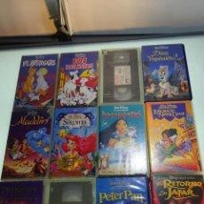 Cine: GRAN LOTE DE 12 PELÍCULAS VHS - CLÁSICOS DE DISNEY - MUY DIVERTIDAS PARA LOS PEQUES - . Lote 81986076