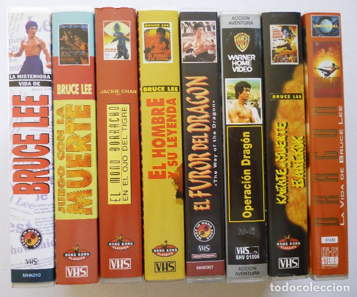 Cine: 8 PELICULAS VHS ARTES MARCIALES 7 PELICULAS BRUCE LEE Y UNA PELICULA JACKIE CHAN - Foto 4 - 83829700