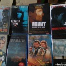 Cine: LOTE 8 PELÍCULAS VHS ACCIÓN Y AVENTURA. Lote 84090404