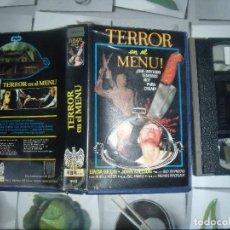 Cine: TERROR EN EL MENÚ. VHS ORIGINAL. EDICIÓN ÚNICA RARÍSIMA. Lote 84379288