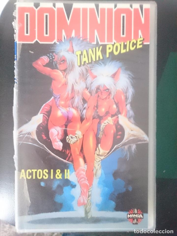 VHS - MANGA - DOMINION TANK POLICE - ACTOS I Y II - COLECCION MANGAMANIA -REFM1E3 (Cine - Películas - VHS)