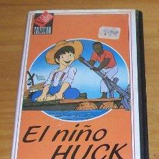 Cine: EL NIÑO HUCK -VHS- TOM SAWYER, HUCKLEBERRY FINN MARK TWAIN DIBUJOS ANIMADOS ANIMACION. Lote 84479076