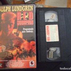 Cine: RED SCORPION - JOSEPH ZITO - DOLPH LUNDGREN , CARMEN ARGENZIANO - RECORD VISION 1990 MALLORCA. Lote 177587974