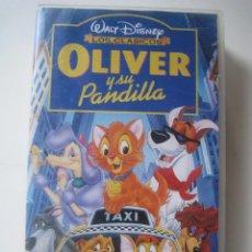 Cine: VHS OLIVER Y SU PANDILLA - DISNEY LOS CLÁSICOS. Lote 85132196