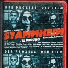 Cine: VHS STAMMHEIM. EL PROCESO.. Lote 85153532