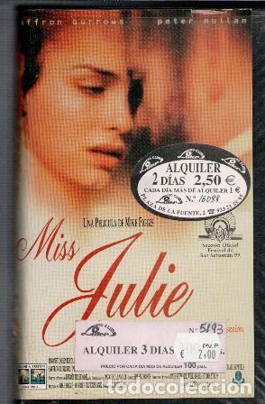 VHS MISS JULIE (Cine - Películas - VHS)