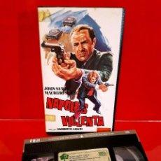 Cine: NAPOLES VIOLENTA (1976) - UMBERTO LENZI, MAURIZIO MERLI, JOHN SAXON. RARÍSIMA. Lote 85818528