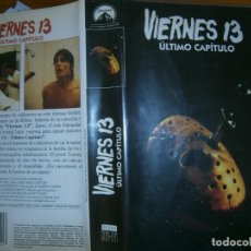 Cine: (PELICULA VHS-)-VIERNES 13 ..ULTIMO CAPITULO. Lote 161303056
