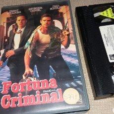 Cine: FORTUNA CRIMINAL- VHS- SEYMOUR CASSEL. Lote 262071025