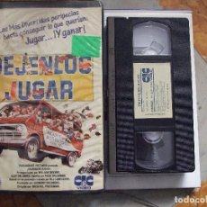 Cine: DEJENLOS JUGAR - MICHAEL PRESSMAN - WILLIAM DEVANE , CLIFTON JAMES - CIC 1986. Lote 129105068