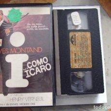 Cine: I ... COMO ICARO - HENRI VERNEUIL - YVES MONTAND , MICHEL ETCHEVERRY ENNIO MORRICONE PANAVIDEO 1985. Lote 86666216