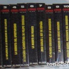 Cine: LA TRANSICIÓN ESPAÑOLA, VHS, 13 CINTAS, RTVE, EL PAÍS. COMPLETO.. Lote 87009816
