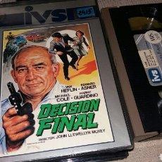 Cine: DECISION FINAL- VHS- VAN HEFLIN- EDWARD ASNER. Lote 87255900