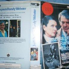 Cine: JUSTICIA PARA RANDY WEBSTER (PELICULA VHS). Lote 87412304