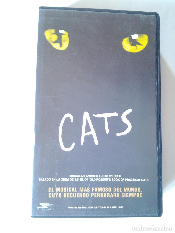 Cats, Video VHS,Elaine Paige, El musical más famoso del mundo, V.O.  subtitulado, 1998