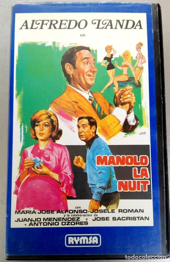 VHS - MANOLO LA NUIT - ALFREDO LANDA, NADIUSKA, ANTONIO OZORES, MARIANO OZORES (Cine - Películas - VHS)