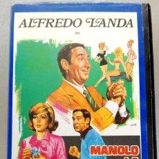 Cine: VHS - MANOLO LA NUIT - ALFREDO LANDA, NADIUSKA, ANTONIO OZORES, MARIANO OZORES. Lote 88001408