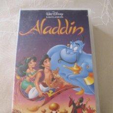 Cine: VHS VIDEO WALT DISNEY ALADDIN . Lote 88874592