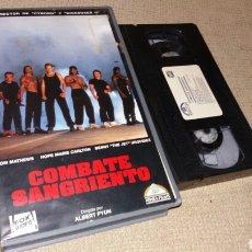 Cine: COMBATE SANGRIENTO- VHS- ALBERT PYUN. Lote 90145492