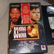 Cine: 83 HORAS PARA MORIR- VHS- ROBERT URICH. Lote 90210667