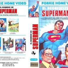 Cine: VHS - EL REGRESO DE SUPERMAN - ANIMACION, DIBUJOS ANIMDOS. Lote 90683090